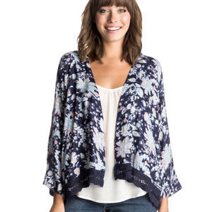 ROXY Life Pursuit Printed Kimono Size Large